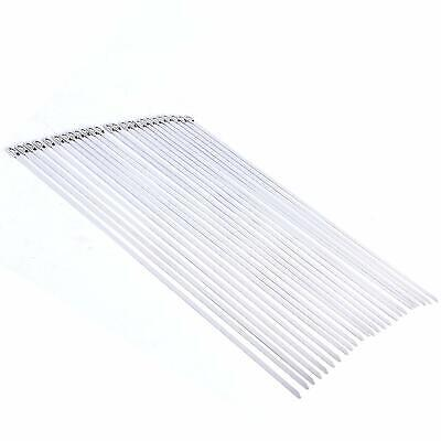 25 PCS Stainless Metal Cable Zip Ties Strap Locking Exhaust Pipe Header 2 Sizes