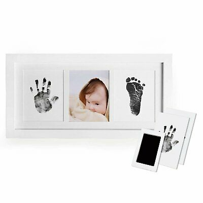 Baby Handprint and Footprint Photo Frame Kit for Newborn Boys and Girls
