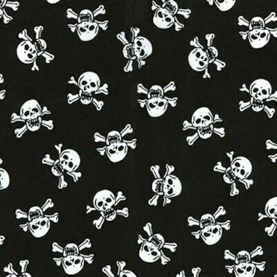 Skulls  Polycotton  Fabric Material Crafting Home Decor Fabrics Halloween Skull