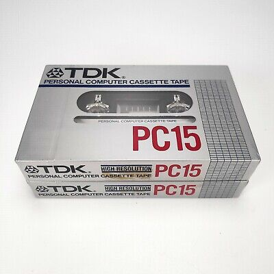 2 x TDK PC15 Personal Computer Cassette Tape (1984) - Sealed - Made in Japan