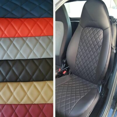 SMART FORTWO 2007-2014 LEATHERETTE n RHOMBUS LEATHERETTE CAR SEAT COVERS