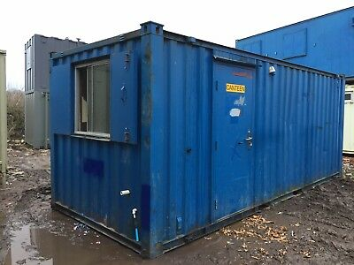 Office Canteen Site CabinAnti Vandal Steel Portable Building 20ft