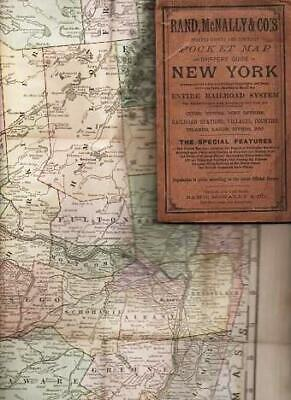 New York / RAND McNALLY & CO.'S INDEXED COUNTY AND TOWNSHIP POCKET MAP 1891