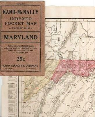 RAND-McNALLY INDEXED POCKET MAP AND SHIPPERS' GUIDE OF MARYLAND AND DISTRICT