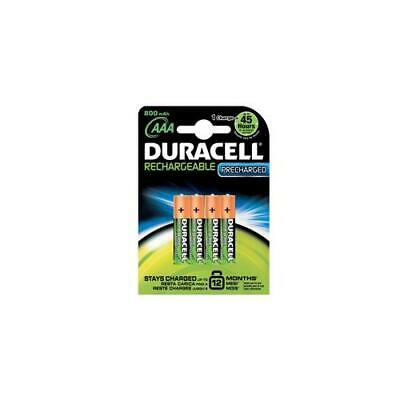 81364755 Duracell Stay Charged Battery Rechargeable 800mAh AAA Size 1.2V 4 Pack