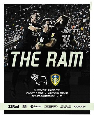Derby County v Leeds United 2018/19 brand new football programme