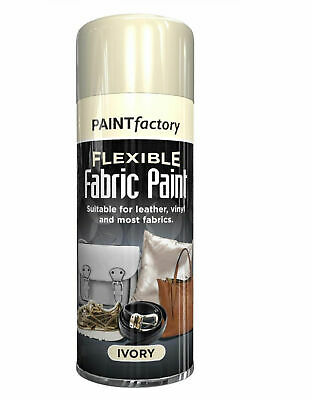 Flexible Fabric Ivory Spray Paint Can Leather Vinyl Textile Cloth Fast Drying