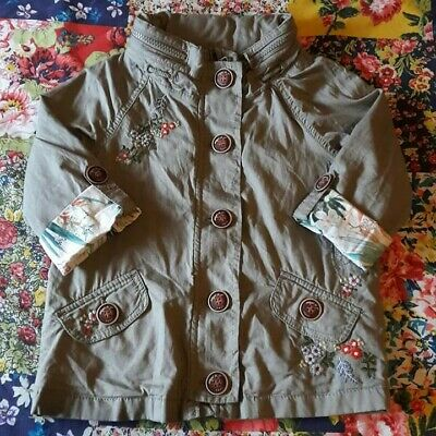 Next Age 3-4 Girls Summer Jacket Embroidered Flowers