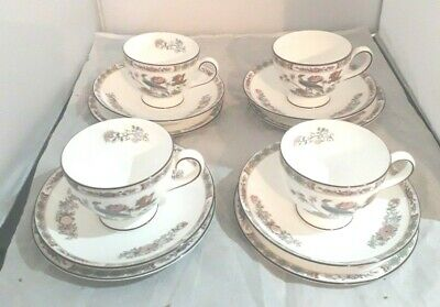 Wedgwood Kutani Crane Trios   X 4  Cup Saucer And Plate 6""