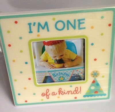 Hallmark Photo Frame Baby Boy 1st First Birthday, Shower Gift, BRAND NEW!