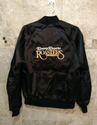 da8c2d99 Vintage KENNY ROGERS heavy embroidered Roasters satin jacket Size Large