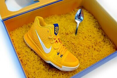6e326247a25 Nike Kyrie 3 Boys Basketball Shoes 869985-791 University Gold Mac   Cheese  1Y