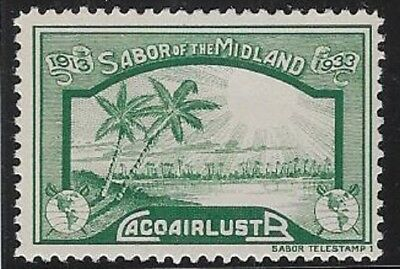 USA Cinderella stamp: 1933 'SABOR OF THE MIDLAND' Rare! (See Story) - dw129c