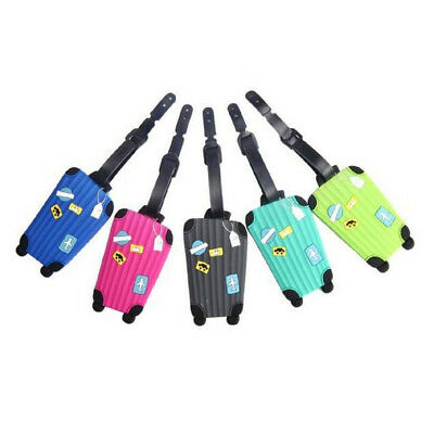 Korean Luggage Tags for Travel Identifier Card Holder Suitcase Label Pack of 5 J