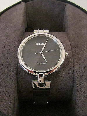 Ladie's Citizen Eco-Drive EM0220-88E Silhouette Stainless Steel Watch NIB