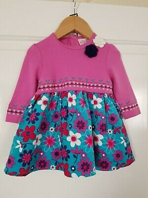 Baby Girls Pink Floral Dress 2 Colours