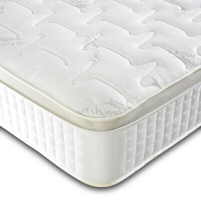 High Quality 3000 Pocket Sprung Pillow Top Cashmere 3FT 4FT 5FT 6FT Mattress