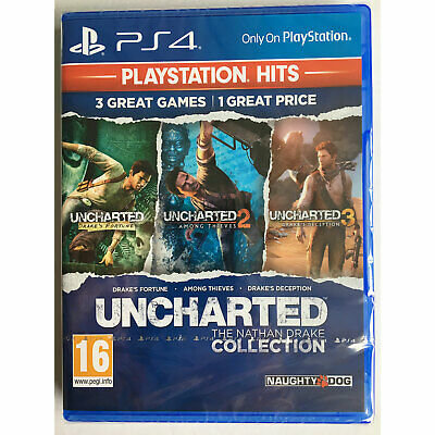 Uncharted The Nathan Drake Collection Trilogy 3 Games (PS4) New and Sealed