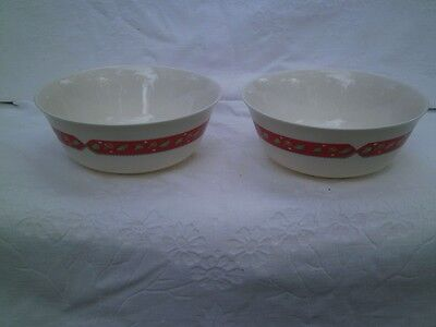 Vintage Arcopal France Two Large Deep Serving Bowls Autumn Look Leaves Pretty