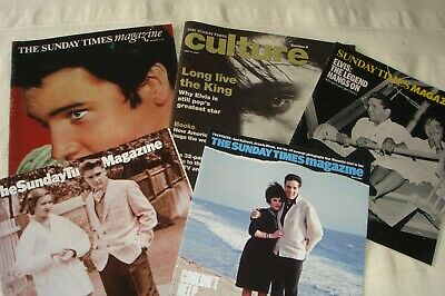 ELVIS PRESLEY bargain bunch of 5 Sunday Times magazines, Elvis on front covers