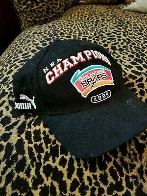 the best attitude b58fd 41181 Vintage 1999 NBA Champions San Antonio Spurs Basketball Hat Cap by Puma