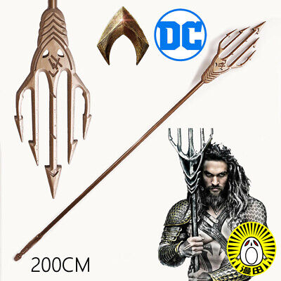 Brand NEW Aquaman Arthur Curry prong trident Cosplay Prop mp004259