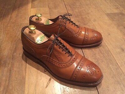 f9a2f593f86 BROOKS BROTHERS ALLEN Edmonds 8.5 D Spectator Brown And White Shoes ...