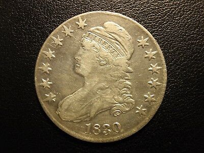 1830 capped bust half dollar, large 0