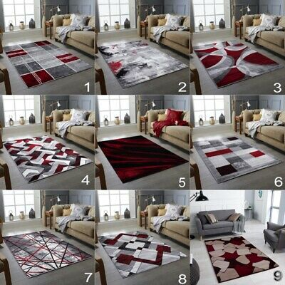 New Red Beige Brown Small Extra Large Living Room Rug Floor Carpet  Area Rug Uk