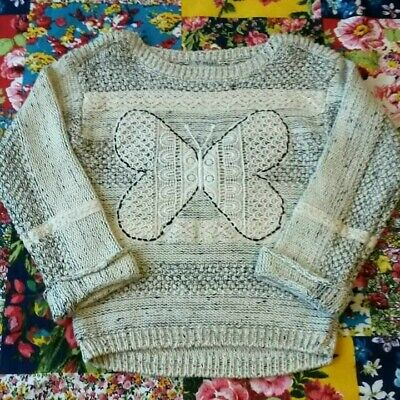 Next Age 3-4 Girls Knitted Jumper Butterfly