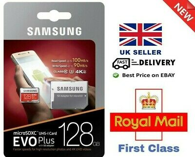 Samsung EVO Plus 128GB Micro SD SDXC UHS-I U1 Card with Adapters - Free Delivery