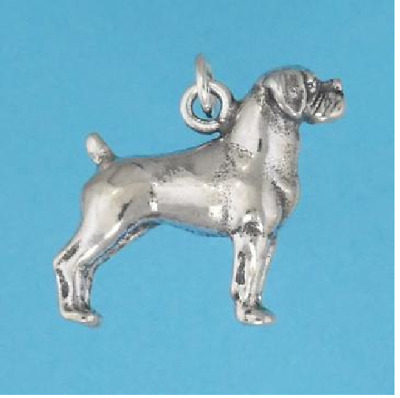Boxer Dog sterling silver charm .925 x 1 Boxers Dogs charms BJ2054