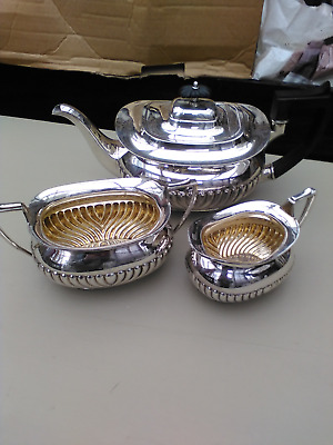 ANTIQUE  SILVER PLATED  TEA SERVICE  dated 1912