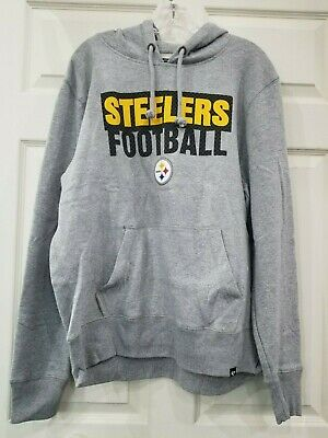 timeless design 8c9af 138e0 PITTSBURGH STEELERS MEN'S Gray Hoodie Nwt New With Tags L-Xxl Free Shipping