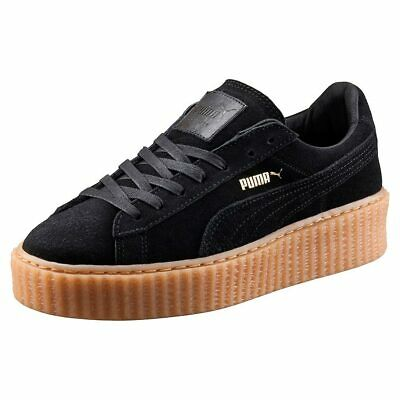 low priced d431d c7d25 PUMA WOMENS FENTY by Rihanna Black Suede Creepers 36100502 GrEUR_40 UK_6.5  US_9