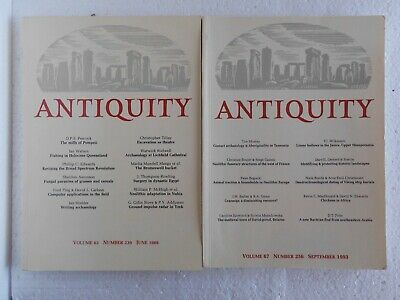 Antiquity Magazine - Two copies from 1989 and 1993  Archaeology  Ancient History