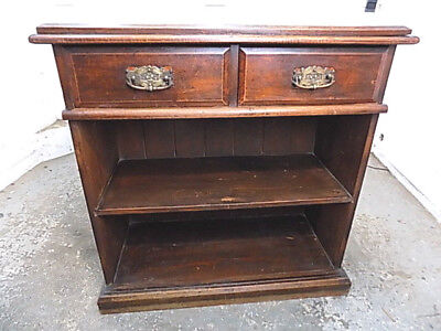 tall,open front,bookcase,cabinet,two,drawers,shelves,antique,victorian,mahogany