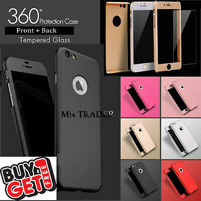 Case for iPhone 6 7 8 5S SE PLUS XS Cover 360 Luxury UltraThin Shockproof Hybrid