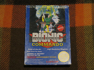 Bionic Commando, Nintendo NES, Only Box 100% Original Mattel Version PAL A