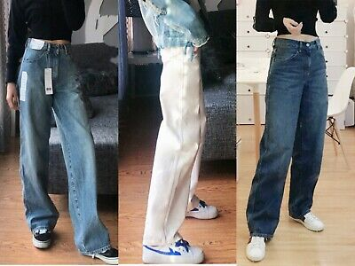 NWT Uniqlo U Lemaire WOMEN U HIGH-RISE WIDE STRAIGHT JEANS Just Released OOS