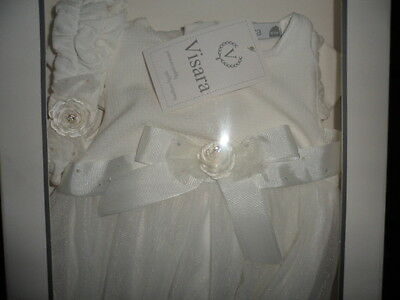 Baby Girls Christening Dress/special Occasion/wedding VISARA IVORY WAFFLE FRONT