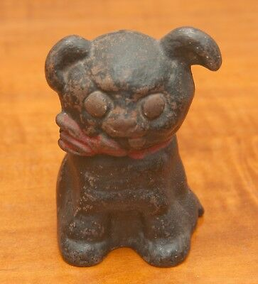 "Antique Hubley  Cast Iron Still Bank, ""Puppo"" Circa: 1914 By Grace Gebbie"