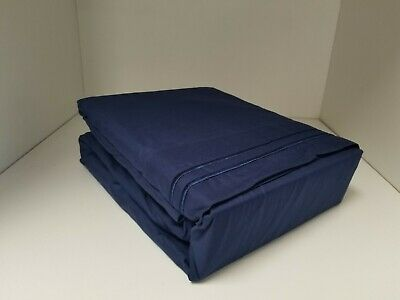 NAVY Queen Waterbed 6PC Sheet set FREE Stay Tuck Poles Premium Quality !!