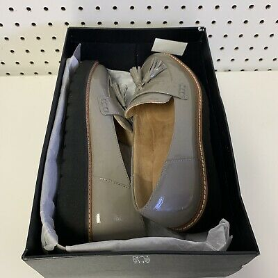 8f688d67ca1 Naturalizer Womens August Leather Almond Toe Loafers Grey Patent. Women  Size 8.5