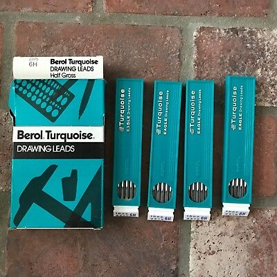 Berol Turquoise Drawing Leads 2375 6H