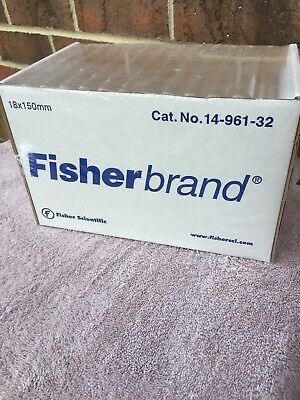 Fisher Brand Disposable Culture Tubes 18x150mm 125 per box 14-961-32. Free Ship