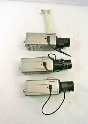 LOT OF (3) Samsung SCC-131A Surveillance Camera w/Lens