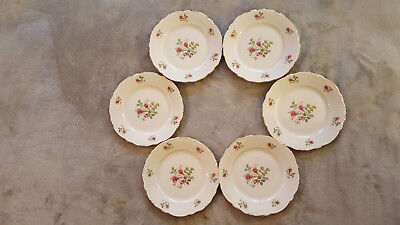 "Set of (6) Vintage Bavarian China - 7.5"" Plate - Red Roses - Made in W. Germany"