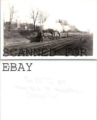 Erie RR Train #59 New York To Middletown VINTAGE RAILROAD PHOTO