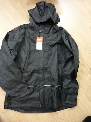School Unisex Waterproof Jacket Black Size Small Result performance wear R155x